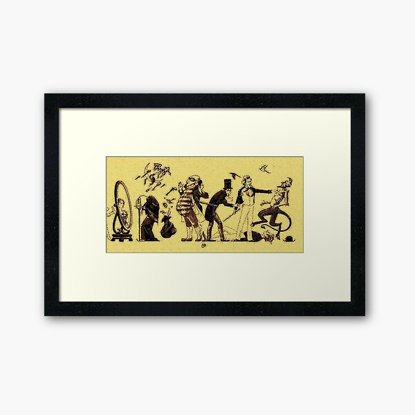 A Trick of the Tail Framed Art Print