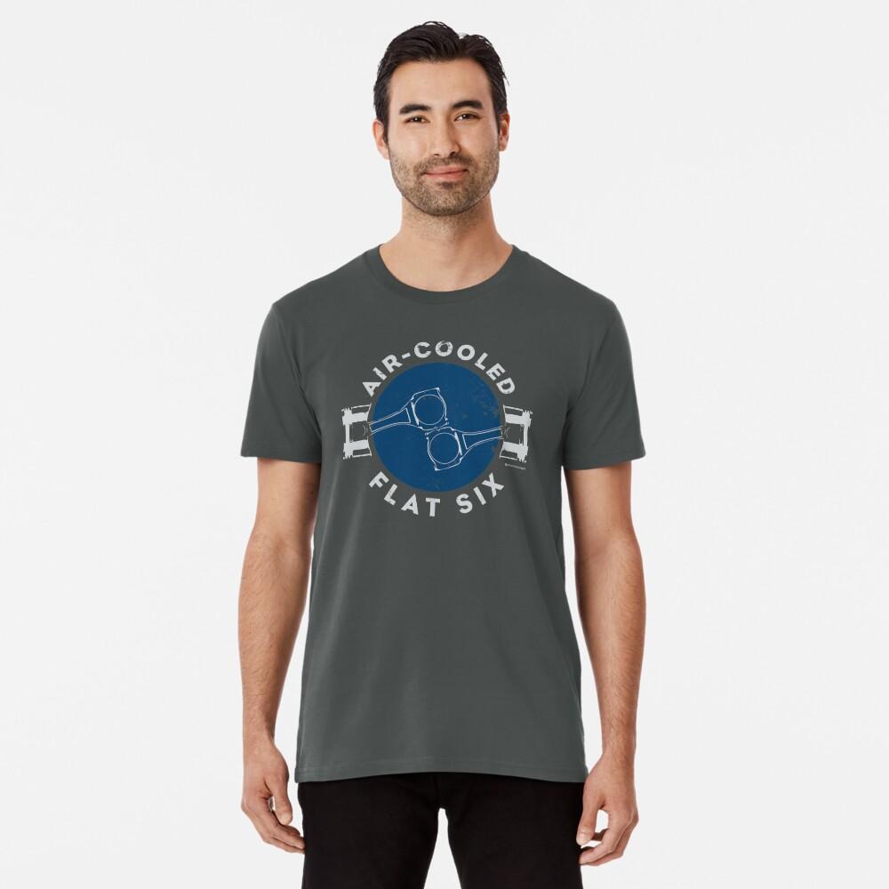 Air-Cooled Flat Six - Blue Premium T-Shirt