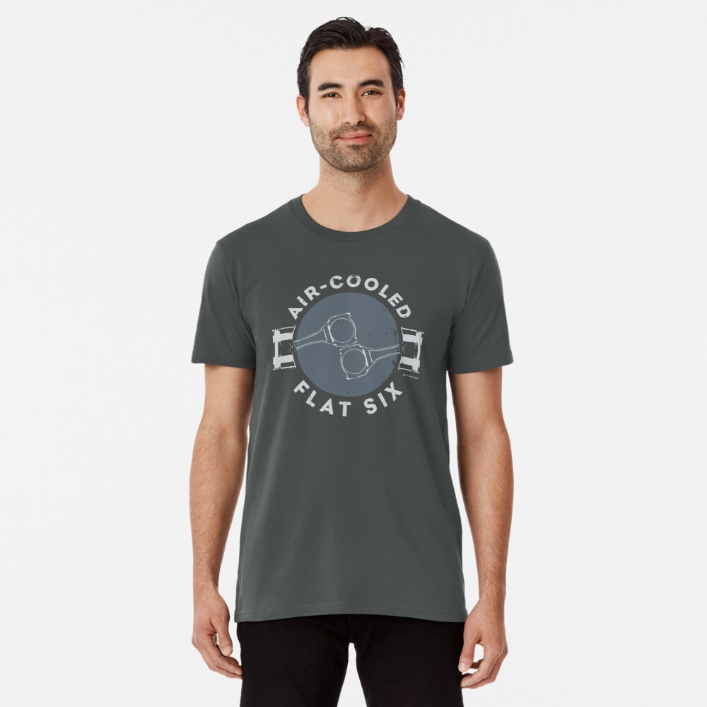 Air-Cooled Flat Six - Grey Premium T-Shirt