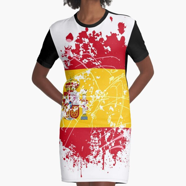 Spanish flag Graphic T-Shirt Dress