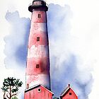 Assateague Lighthouse Watercolor Painting   by Sandra Connelly