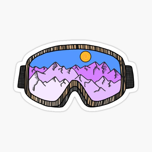 Masque de ski Sticker