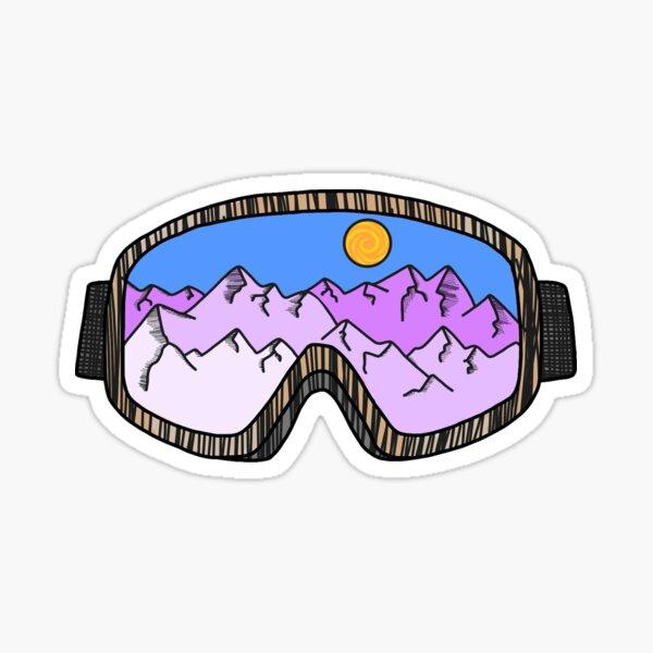 Skibrille Sticker