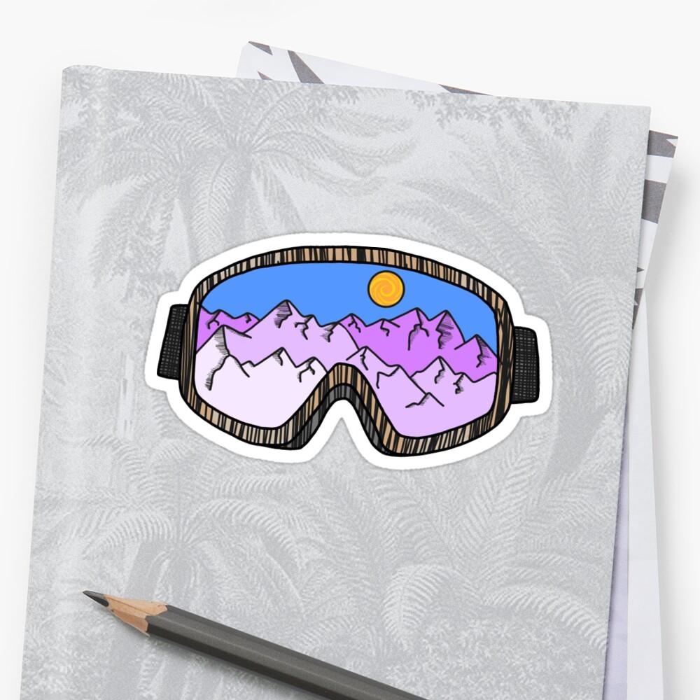 Gafas de esquí Pegatinas