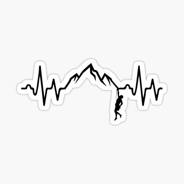 Rock Climbing Heartbeat  Sticker