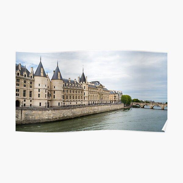 Paris la seine, view of la conciergerie Poster