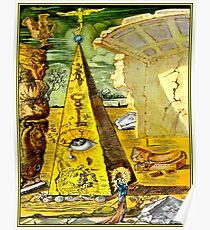 SALVADOR DALI: Vintage 1945 Auge der Vorsehung Abstract Print Poster