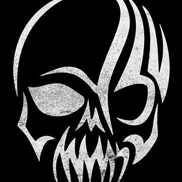 Tribal Angry Skull Halloween by CeeGunn