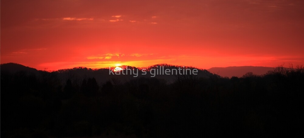 Sunrise over the  Smoky Mountains by kathy s gillentine