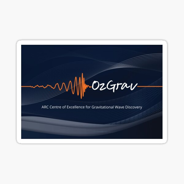 OzGrav - ARC Centre of Excellence for Gravitational Wave Discovery Sticker