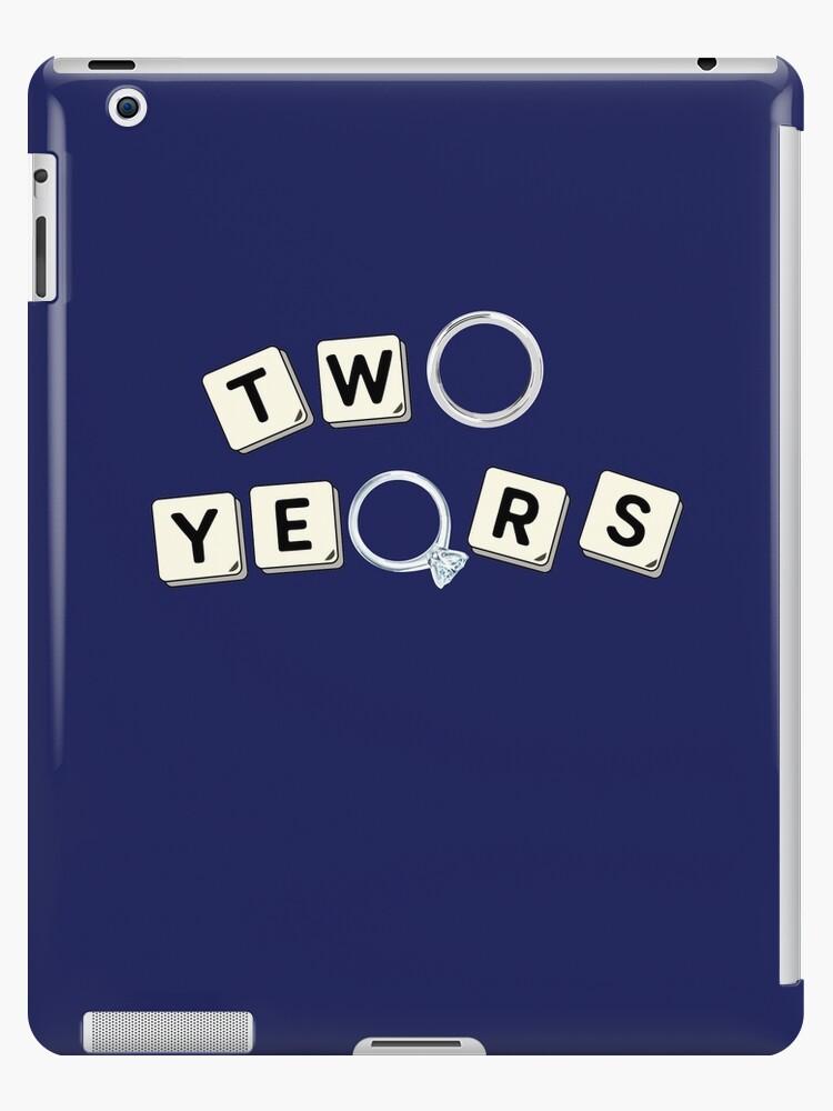 2 Years Cotton Wedding Anniversary Unisex Gift Ideas Ipad Cases