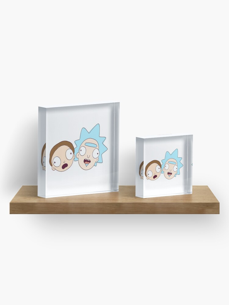 Alternate view of Rick and Morty! 100 Years! Acrylic Block