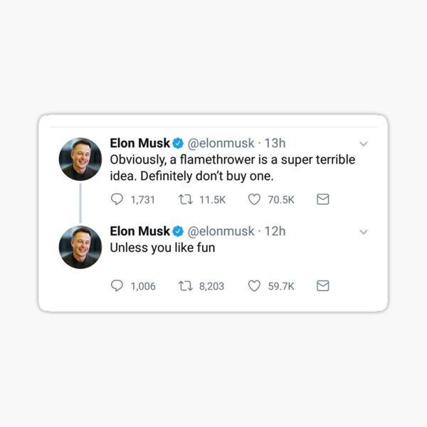 Elon Musk Tweet 2 Sticker