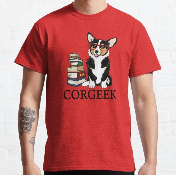 Corgi for book lovers, book nerds, readers, or english teachers Classic T-Shirt