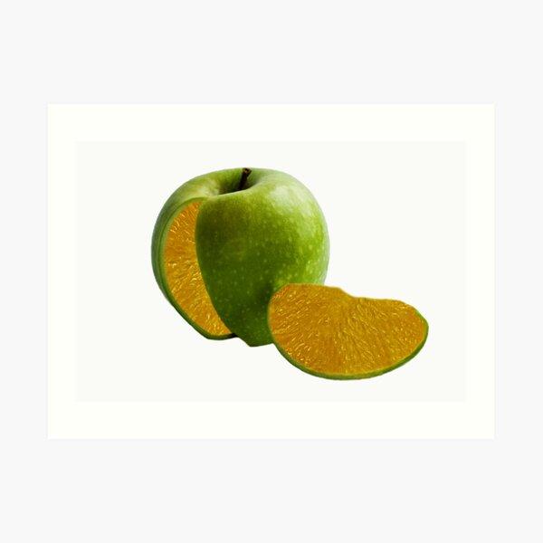 Comparing Apples and Oranges Art Print