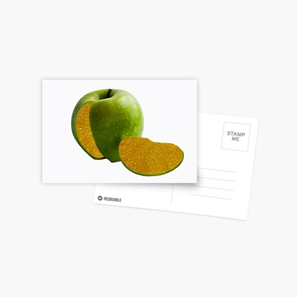 Comparing Apples and Oranges Postcard