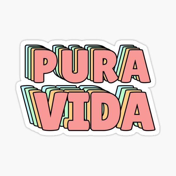 Pura Vida Pastel Sticker