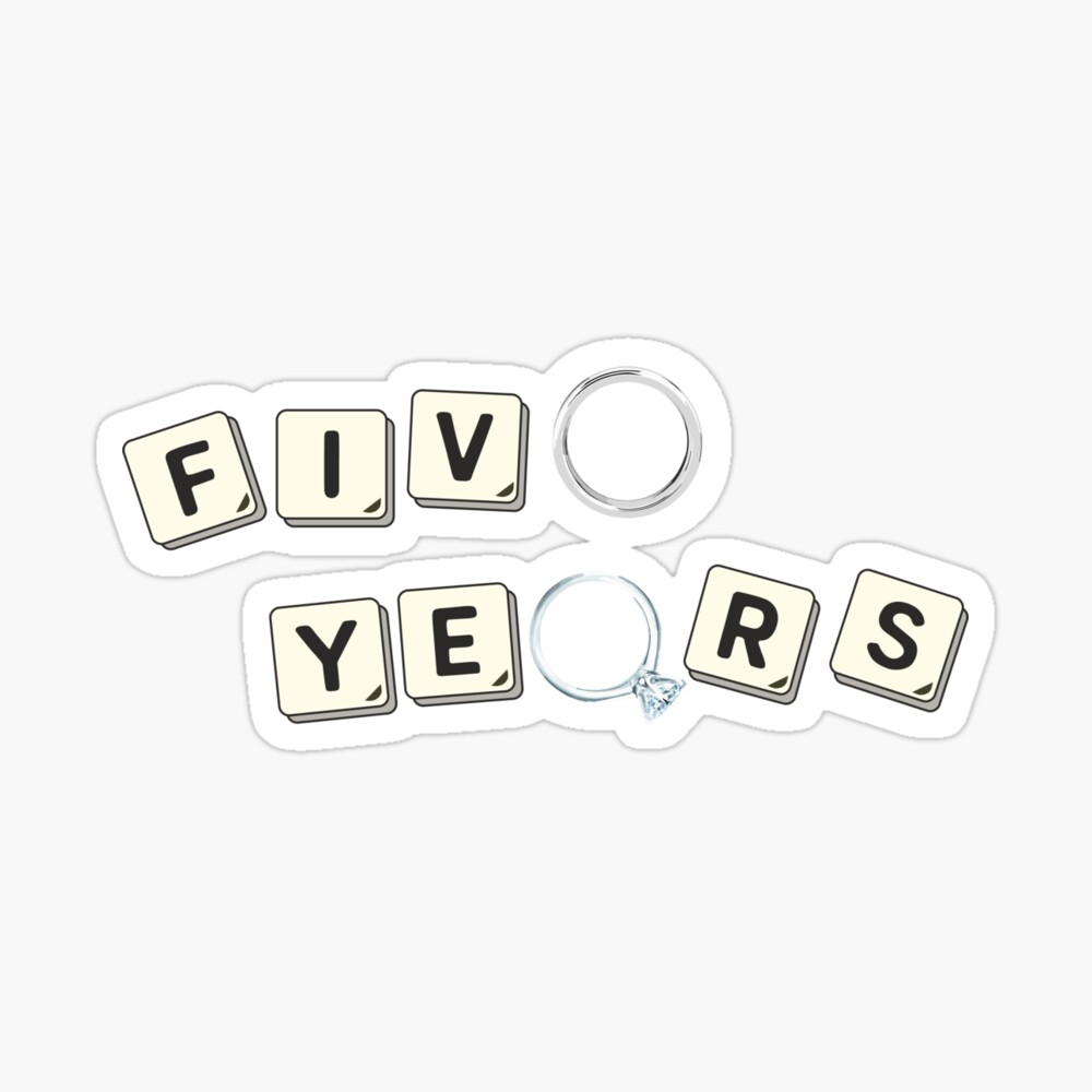 5 Years Wood Wedding Anniversary Unisex Gift Ideas Poster By