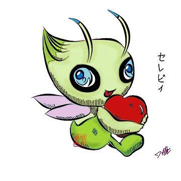 Celebi Loves You by DrkHikari