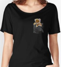 Lion cub in pocket Women's Relaxed Fit T-Shirt