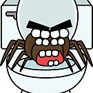 angry zombie toilet spider by shortstack