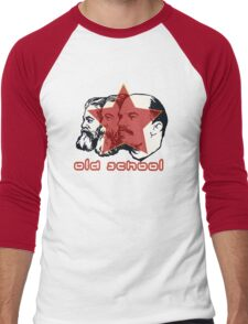 MARX ENGELS LENIN OLD SCHOOL  Men's Baseball ¾ T-Shirt