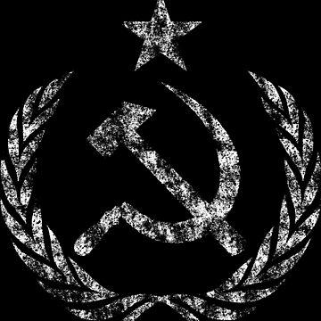 Vintage Communist Cold War Flag by Chocodole