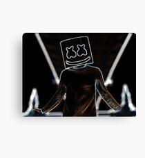 Art Black Marshmello Impression sur toile