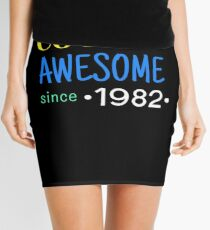 Cool And Awesome Since 1982 Mini Skirt