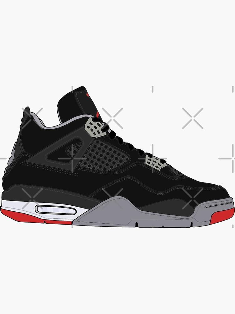"""Air Jordan IV (4) """"Bred"""" by gaeldesmarais"""