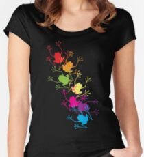Rainbow Frogs Women's Fitted Scoop T-Shirt