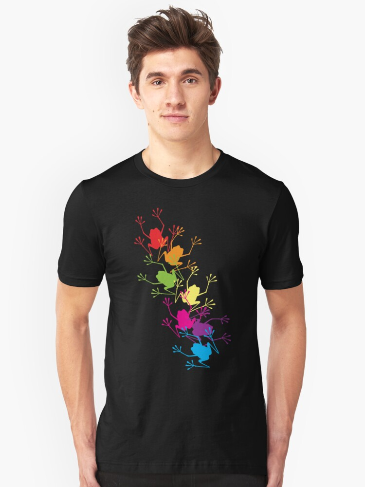 Rainbow Frogs Unisex T-Shirt Front