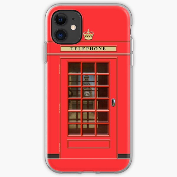 British Red Phone box with Big Ben iPhone Soft Case