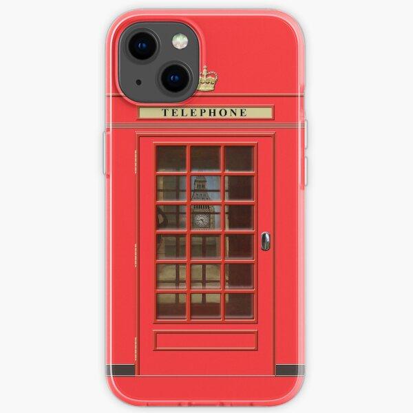 British Red Phone box with Big Ben iPhone Soft Case