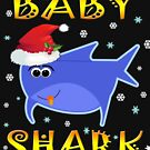 Christmas Baby Shark Funny Tshirt Design Gift Idea by werdanepo