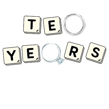 10 Years Tin Wedding Anniversary Gift Designs by MemWear