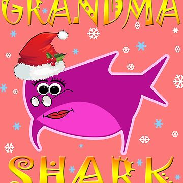 Christmas Grandma Shark Funny Tshirt Design Gift Idea by werdanepo