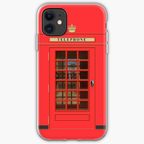 British Red Phone Box with Buckingham Palace iPhone Soft Case