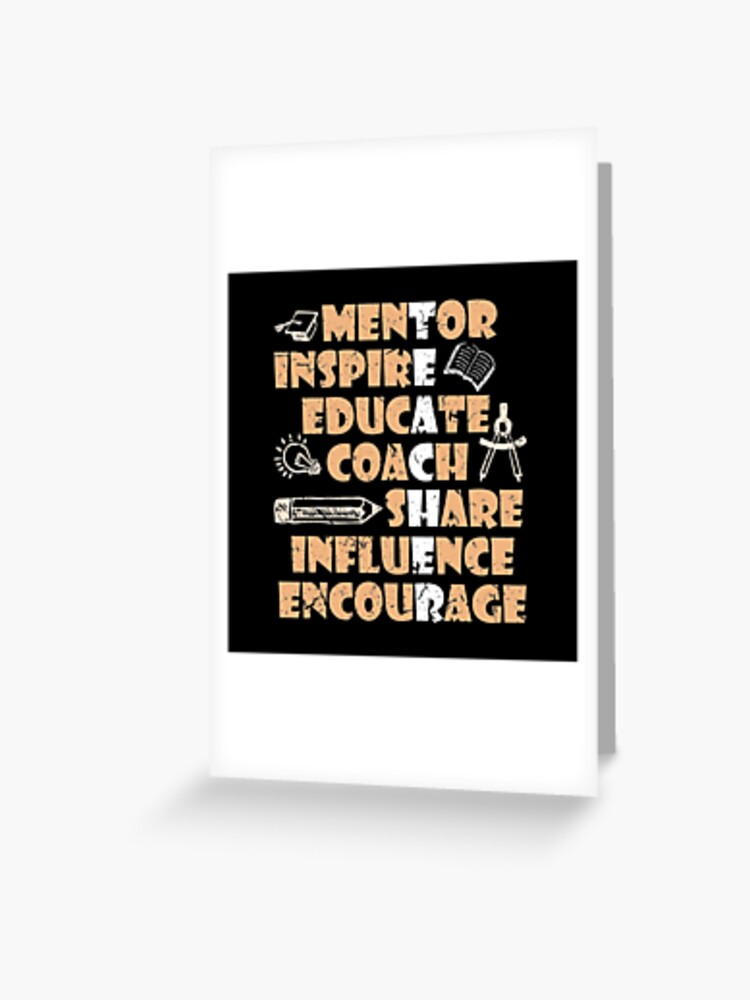 Serious Teacher Mentor Inspire Educate Coach Share Influence Encourage Hoodie