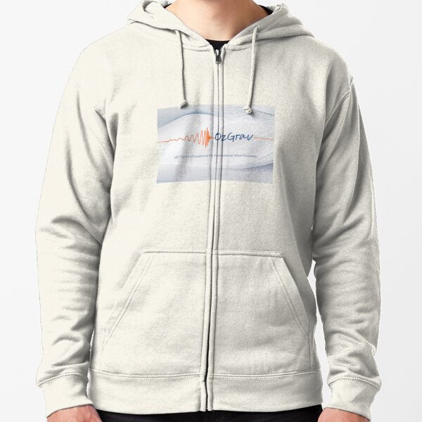 OzGrav - ARC Centre of Excellence for Gravitational Wave Discovery Zipped Hoodie