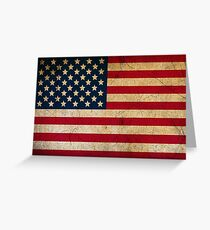 Vintage American Flag Greeting Card
