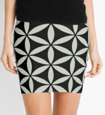 FLOWER OF LIFE - SACRED GEOMETRY - HARMONY & BALANCE Mini Skirt