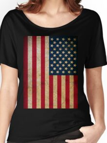 Vintage American Flag Women's Relaxed Fit T-Shirt
