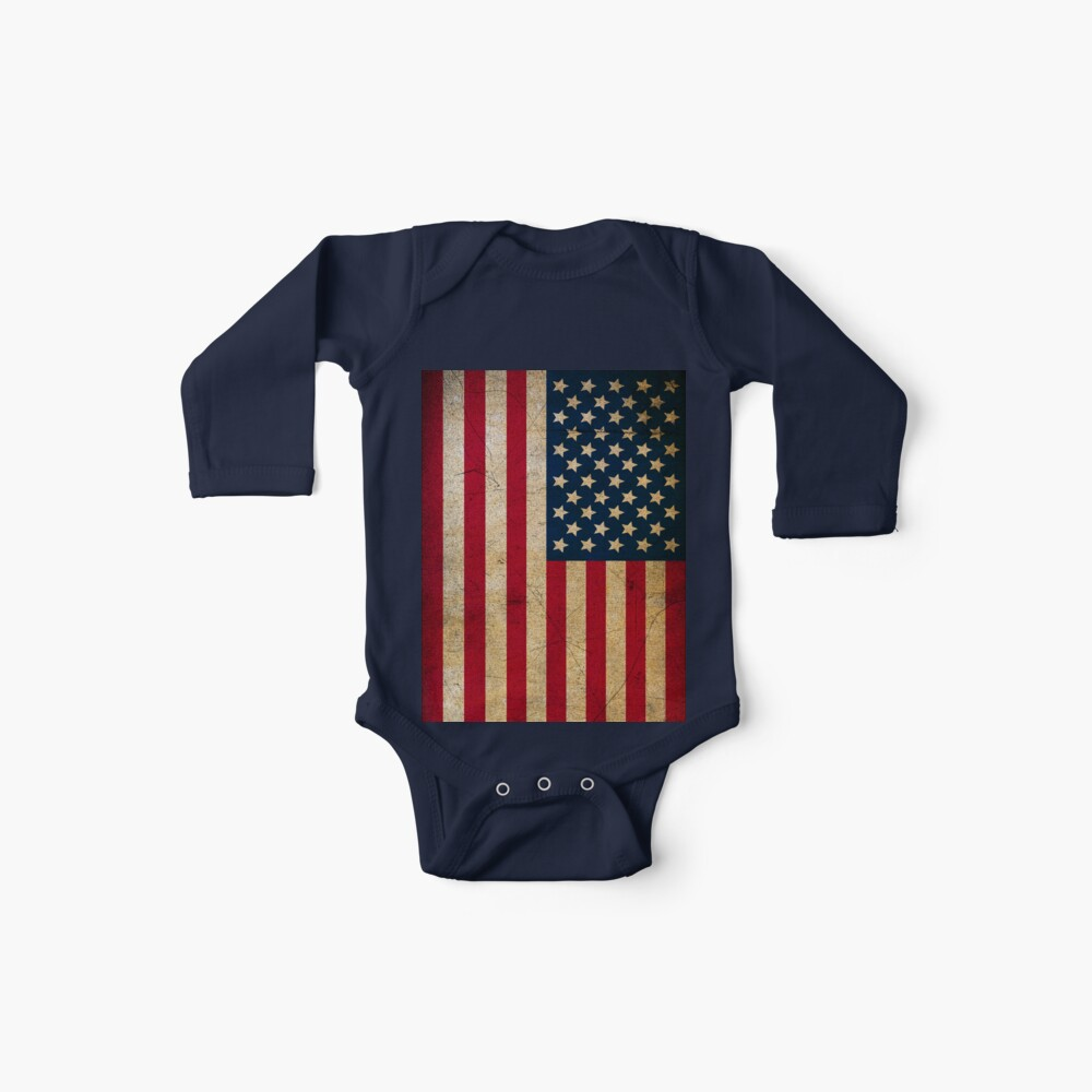 Vintage American Flag Baby One-Piece
