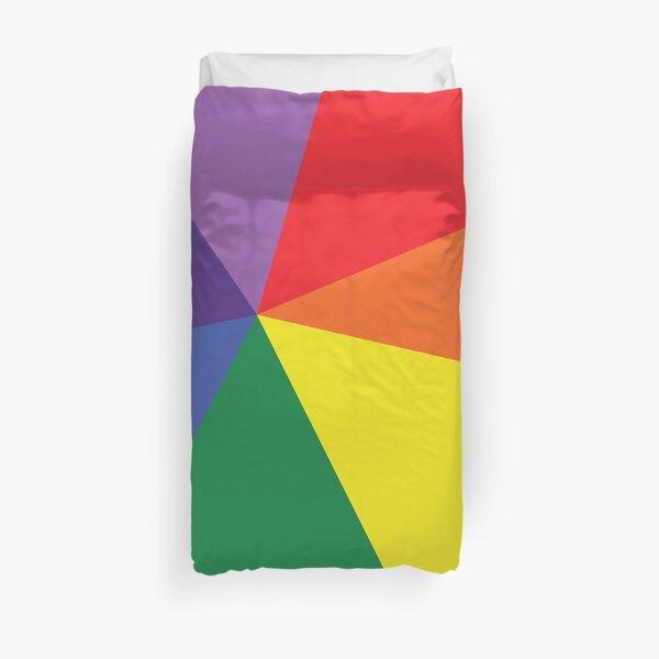 Bright Rainbow Colour Design Duvet Cover