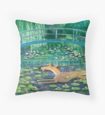 Greympressionism Throw Pillow