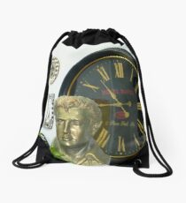 The Late Elvis Bust Drawstring Bag
