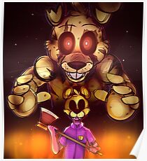 Die In A Fire - Five Nights At Freddy's 3 Poster