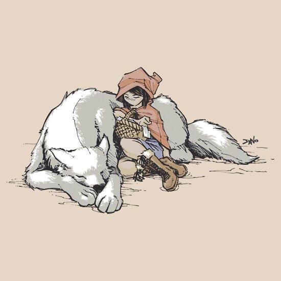 TShirtGifter presents: Petite Rouge en le Loup