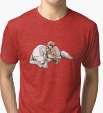 Petite Rouge en le Loup  Tri-blend T-Shirt